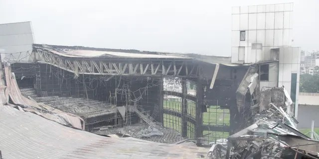 The main sanctuary of Christ Cathedral was destroyed by a fire Monday morning but the church is continuing online worship and raising funds for COVID-19 relief.