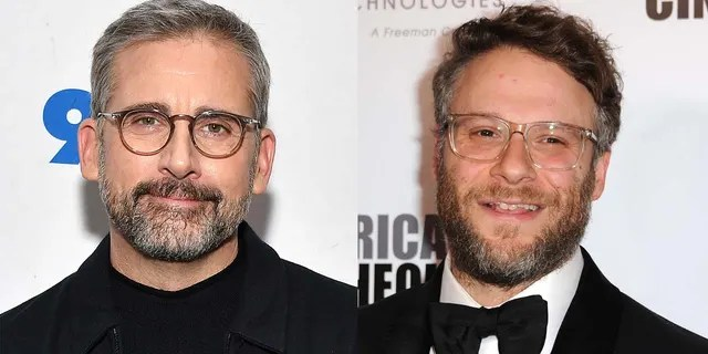 Steve Carell (left) and Seth Rogen have both donated to pay bail for Minneapolis protesters.