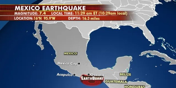 A magnitude 7.4 earthquake in southern Mexico was felt several hundred miles away.