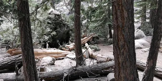 A magnitude 5.8 earthquake on Wednesday in California triggered a rockslide at Whitney Portal in California.