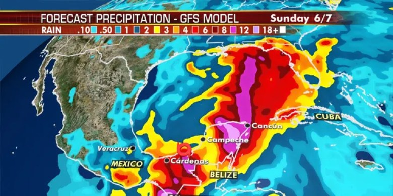Tropical Storm Cristobal is forecast to bring devastating rainfall to southern Mexico and Central America.
