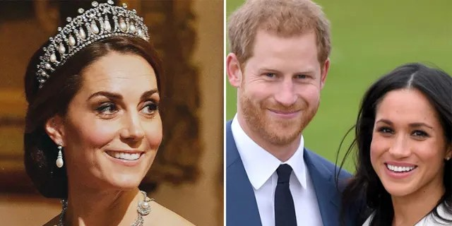 The Duke and Duchess of Sussex (right) reportedly gave a sweet birthday surprise to the Duchess of Cambridge (left).