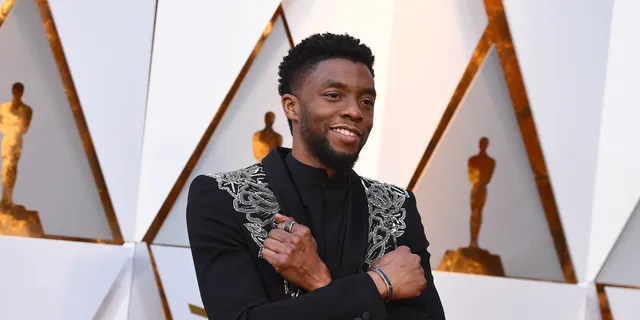 In this file photo, Chadwick Boseman arrives at the Oscars at the Dolby Theatre in Los Angeles in 2018. (Jordan Strauss/Invision)