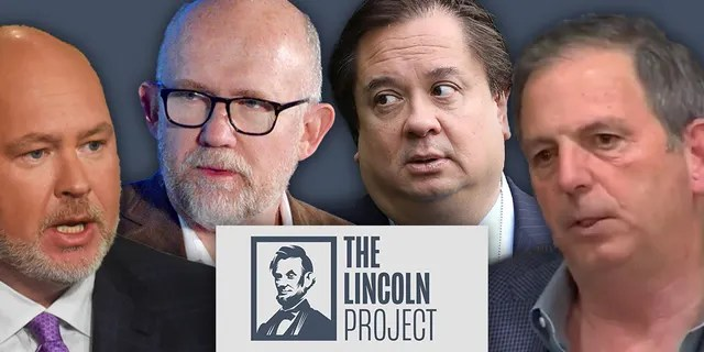 Lincoln Project co-founders Steve Schmidt, Rick Wilson, George Conway and John Weaver.