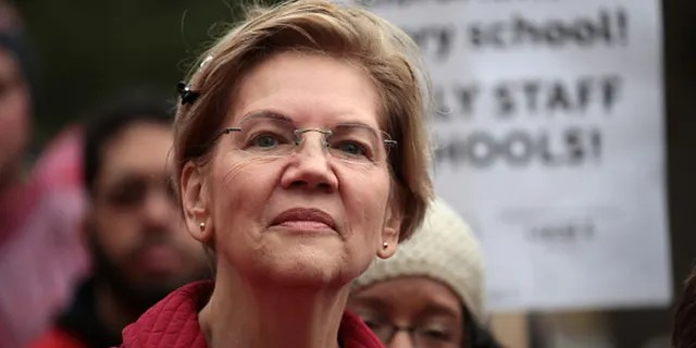 While running for president, Warren centered her campaign on fighting corporate greed and breaking up some of the country's largest companies – like Amazon – which progressives often characterize as anticompetitive monopolies. (Photo by Scott Olson/Getty Images)
