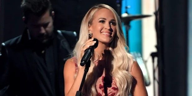Carrie Underwood performs during the 55th Academy of Country Music Awards on September 13, 2020 at the Grand Ole Opry in Nashville, Tenn.  (Photo by Jason Kempin / ACMA2020 / Getty Images for ACM)