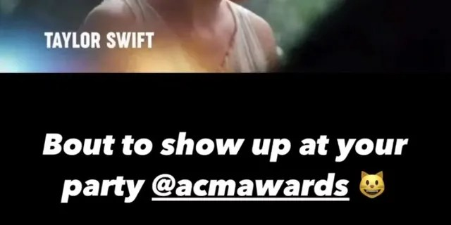Taylor Swift shared a promotional video for the upcoming ACM Awards, which revealed that she'd be performing her new hit 'Betty.'