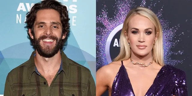 Thomas Rhett and Carrie Underwood tied for entertainer of the year.