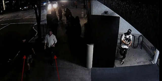 Security footage shows Reinoehl in an alcove of the parking garage while Danielson and a friend walk by, police said.