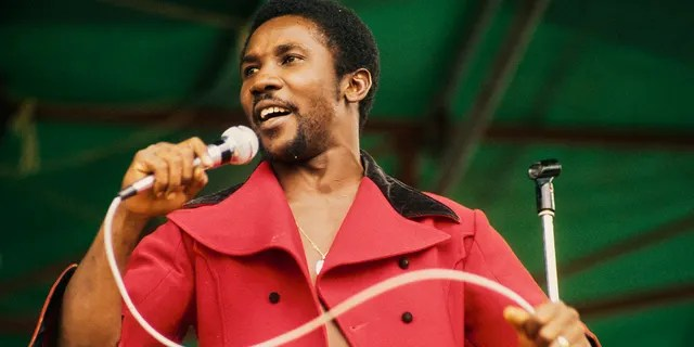 Toots Hibbert of Toots and the Maytals performs on stage in Hyde Park, London, 31st August 1974.