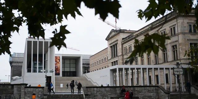 The main entrance to Museum Island and the Neue Museum, left, in Berlin, Wednesday, October 21, 2020 (AP Photo / Markus Schreiber)