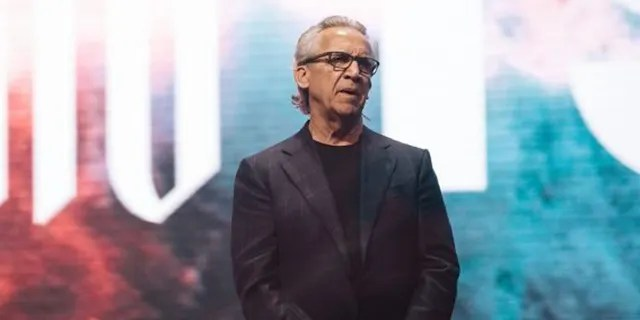Bill Johnson, the senior lead pastor of Bethel Church in Redding, Calif., speaking at Heaven Come conference in Los Angeles. (Bethel Church)