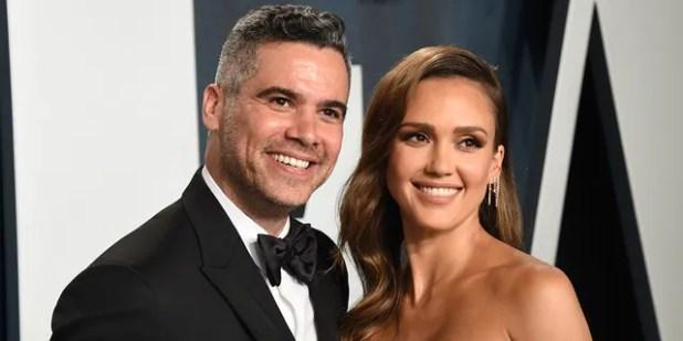 Jessica Alba and her husband Cash Warren.