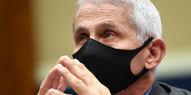 Dr. Anthony Fauci, director of the National Institute of Allergy and Infectious Diseases, waits to testify at a hearing of the U.S. House Committee on Energy and Commerce on Capitol Hill on June 23, 2020, in Washington, DC.<br data-recalc-dims=