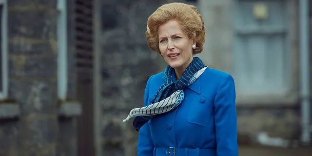 Gillian Anderson plays Conservative Prime Minister Margaret Thatcher in