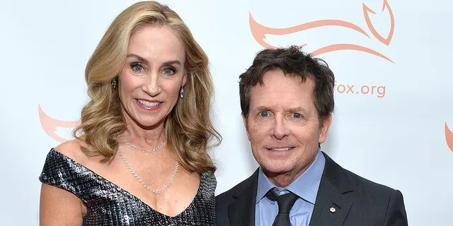 Michael J. Fox and his wife Tracy Pollan. Pollan, who is also Fox's former 'Family Ties' co-star,has been by his side every step of the way.