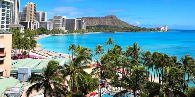 The no. 1 family-friendly destination on KOALA's list is Waikiki, Hawaii.