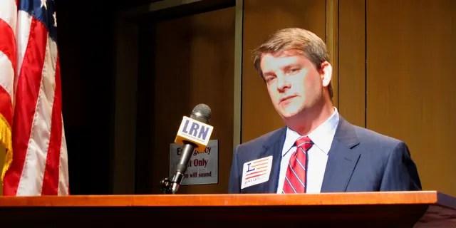 Luke Letlow is seen in Baton Rouge, La., July 22, 2020. Letlow won a U.S. House seat last year but died of COVID-19 before he could take office. (Associated Press)