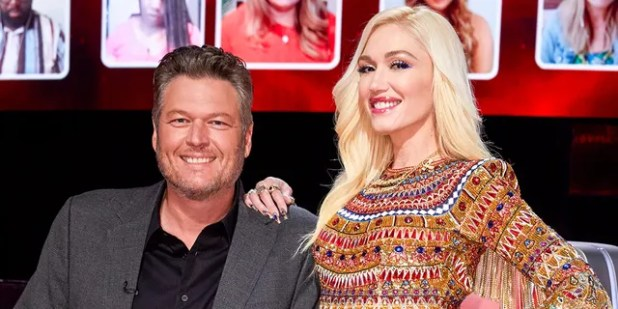 Blake Shelton (left) said he hid Gwen Stefani's engagement ring in her truck for about a week.  (Photo by: Try Patton / NBC / NBCU Photo Bank via Getty Image)