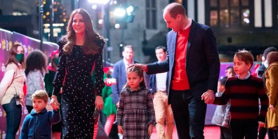 Kate Middleton and Prince William have released a family photo that will appear on their Christmas card.  (Getty Images)