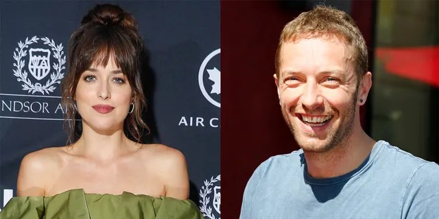 Dakota Johnson (left) and Chris Martin (right) have been linked romantically since 2017.