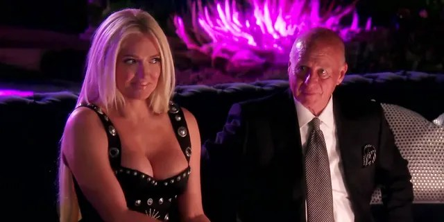 Erika (L) and Tom (R) during a scene from 'The Real Housewives of Beverly Hills.'