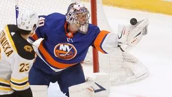 Varlamov, Pageau lead Islanders to 1-0 win over Bruins