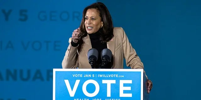 """A pricey, new subscription-based media company is backed by a prominent Democrat who has been a """"longtime fund-raiser"""" for Vice President-elect Kamala Harris, according to New York Times media columnist Ben Smith. (AP Photo/Stephen B. Morton)"""
