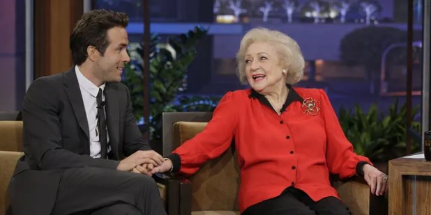 In the caption of her video, Reynolds (left) called her 'The Proposal' co-star Betty White (right) 'the funniest person on the planet'.  Photo by: Paul Drinkwater / NBC / NBCU Photo Bank