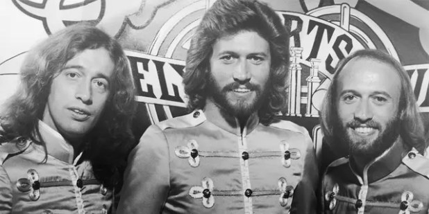LR: B. Geez's brothers Robin, Barry and Maurice Gibb.