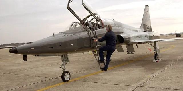 A similar T-38C Talon crashed on May 1 at Sheppard Air Base in Texas.