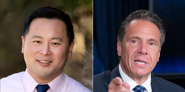 New York Assemblyman Ron Kim and Gov. Andrew Cuomo (Photo credit: nyassembly.gov / Getty Images)