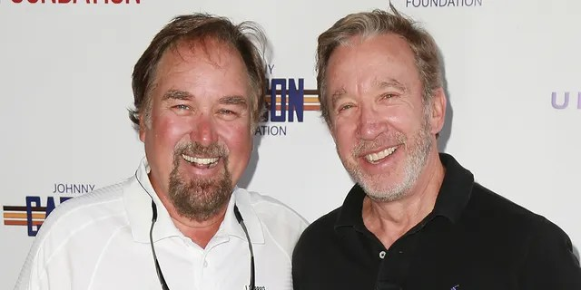Richard Karna (left) and Tim Allen (right) will co-host 'Assembly Assistant'.  (Photo by Leon Bennett / FilmMagic)