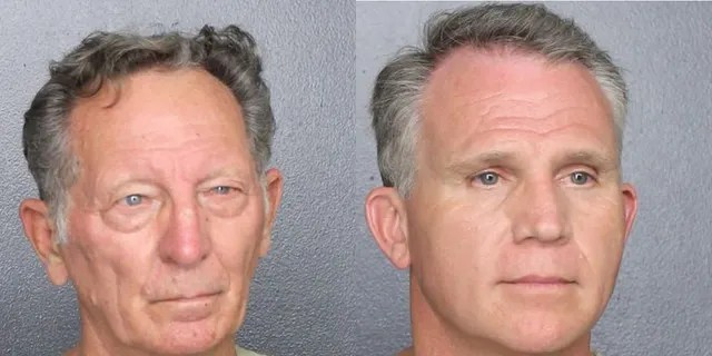 Gary Brummett, 81, (left) and Walter Wayne Brown Jr., 53, (right) were both arrested on 11 February.  He was arrested on 11 February on the pretext of exempting US Marshals from wearing face masks.