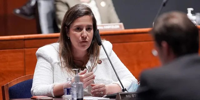 Rep. Elise Stefanik, R-N.Y., questions Secretary of Defense Mark Esper during a House Armed Services Committee hearing on July 9, 2020, in Washington, D.C. Stefanik is gaining support to oust Rep. Liz Cheney, R-Wyo., as the Republican conference chair. (Greg Nash-Pool/Getty Images)