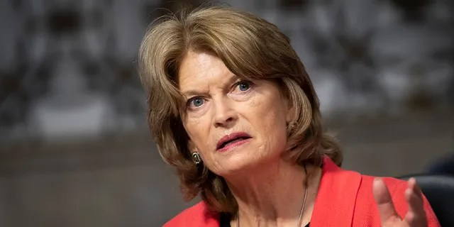 Sen. Lisa Murkowski, R-Alaska, speaks during a Senate Energy and Natural Resources Committee business meeting in Washington on Thursday, March 4, 2021. (Caroline Brehman/CQ-Roll Call, Inc via Getty Images)