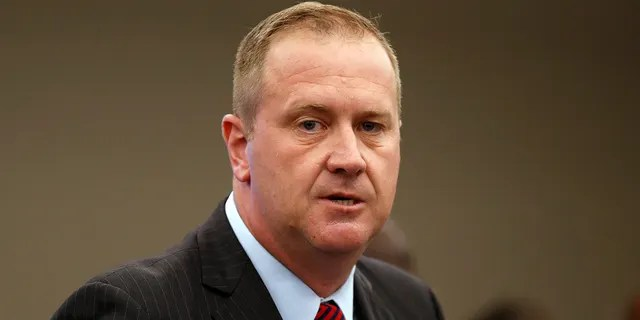 In this Aug. 6, 2020 file photo, Missouri Attorney General Eric Schmitt speaks during a news conference in St. Louis. Schmitt is the chairman of the Republican Attorneys General Association and a candidate for U.S. Senate in Missouri.