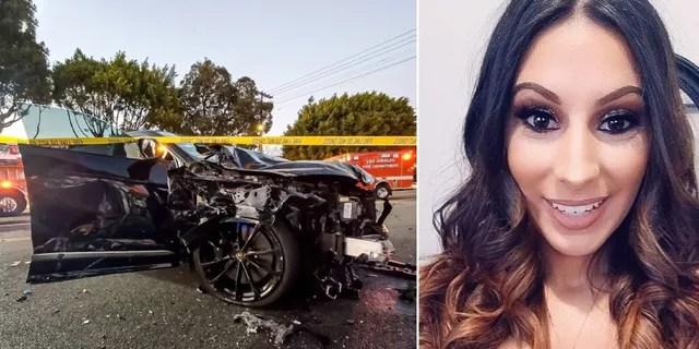 Monique Munoz, 32, died at the scene. (LAPD West Traffic Division)