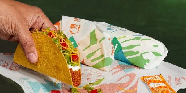 Taco Bell's new alternative meat taco, the Cravetarian, made with pea and chickpea protein, will be sold as a test run in the chain's Southern California location. (Taco Bell).