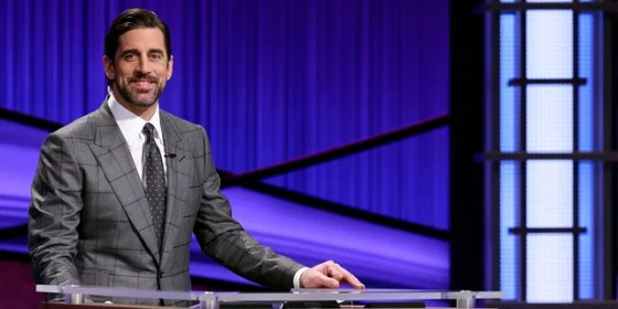 Green Bay Packers quarterback Aaron Rodgers guest hosts the game show