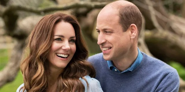 In this photo provided by Camera Press and released Wednesday, April 28, 2021, is Britain's Prince William and Kate, Duchess of Cambridge, at Kensington Palace photographed this week in London, England. The Duke and Duchess of Cambridge celebrated their 10th wedding anniversary on Thursday, April 29.