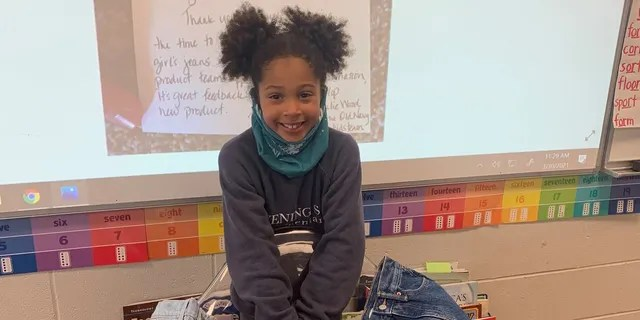 Kamryn Gardner, 7, from Bentonville, Arkansas, wrote a letter to Old Navy earlier this year asking the company to make girls' jeans with real front pockets.