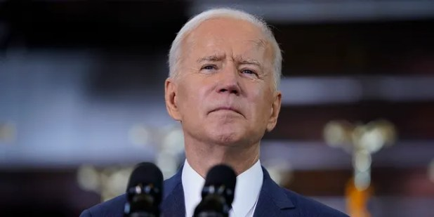 President Joe Biden delivers a speech on infrastructure spending at Carpenters Pittsburgh Training Center, Wednesday, March 31, 2021, in Pittsburgh.  (AP Photo / Evan Vucci)