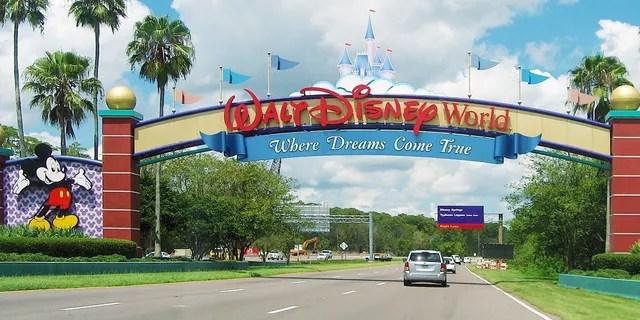 Entrance of Walt Disney World in Orlando, Florida