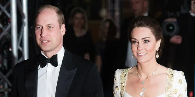 Catherine, Duchess of Cambridge and Prince William, Duke of Cambridge attend the EE British Academy Film Awards 2020 at Royal Albert Hall on February 02, 2020, in London, England.