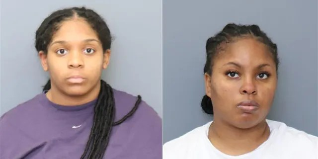 Tanesha Renea Williams (pictured left) and Diamond Shanay Johnson (pictured right) were arrested on April 5.The corrections officers have been accused of driving into a Maryland Taco Bell following a feud with employees last week.