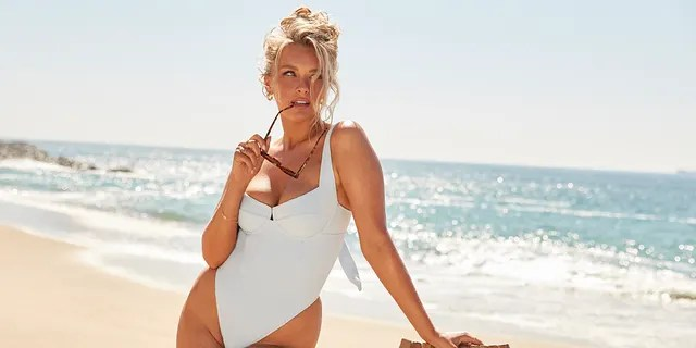 Sports Illustrated Swimsuit 2019 cover model Camille Kostek, seen here modeling one of her Swimsuits for All pieces, debuted in the magazine back in 2018 as a part of the first-ever open casting call.