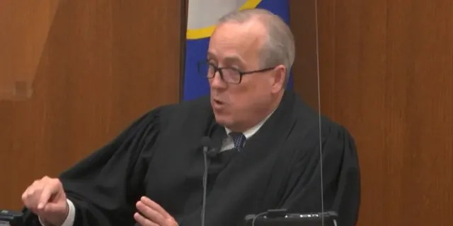 In this image from video, Hennepin County Judge PeterCahill dresses the court after the judge put the trial into the hands of the jury. Monday, April 19, 2021, in the trial of Chauvin, in the May 25, 2020, death of George Floyd at the Hennepin County Courthouse in Minneapolis, Minn. (Court TV via AP, Pool)