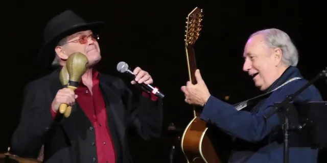 Mickey Dolenz (left) and Michael Nesmith, original members of The Monkees, perform in concert at Ocean Resort Casino on March 2, 2019, in Atlantic City, N.J.