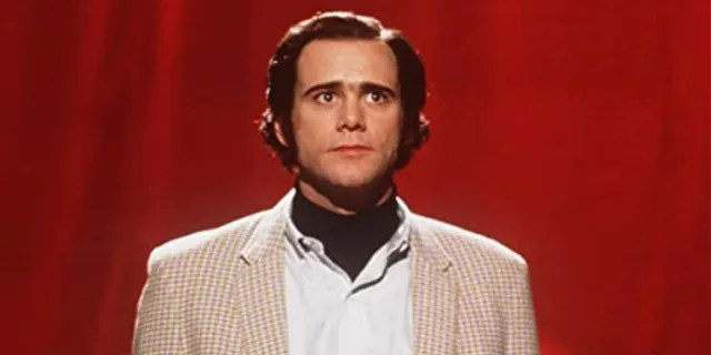 Jim Carrey appears in a scene of 'Man on the Moon' in which he portrayed late comedian Andy Kauffmann.